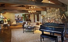 Картинка дизайн, стиль, вилла, интерьер, жилая комната, ранчо, Clancy Lane, rancho