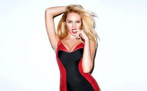 Картинка девушка, модель, фигура, блондинка, candice swanepoel, Кэндис Свейнпол, Victoria`s Secret Angel