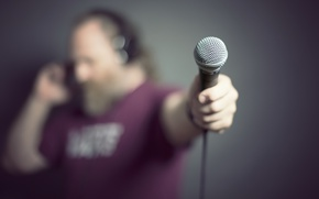 Картинка фон, человек, микрофон