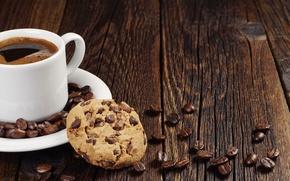 Обои chocolate, cookie, coffee
