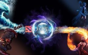 Картинка вода, огонь, противостояние, dota 2