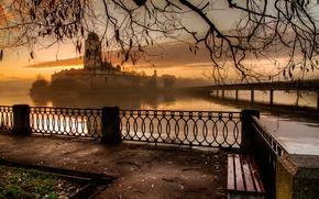Картинка утро, поздняя осень, Выборг