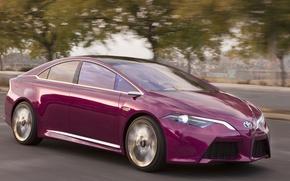 Картинка дорога, авто, Concept, движение, скорость, Hybrid, Toyota NS4 Plug-In