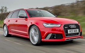 Картинка Audi, Красный, Performance, Avant, RS6