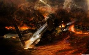 Обои взрывы, ситуации, пожар, огонь