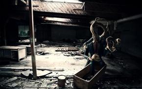 Картинка свет, комната, монстр, разруха