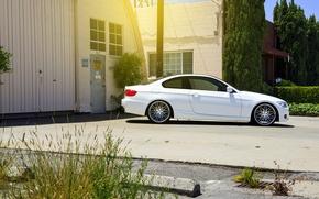 Картинка бмв, BMW, белая, white, E92, 328i, 3 серия, MRR Wheels