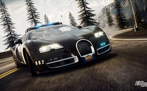 Картинка bugatti veyron, Need for Speed, nfs, police, 2013, Rivals, NFSR, нфс