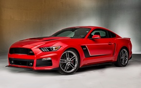 Картинка красный, Mustang, Ford, мустанг, Red, форд, Roush, 2015, Stage 3