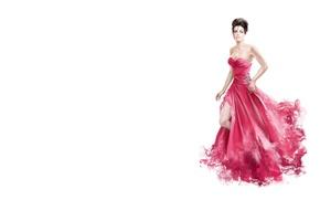 Обои арт, платье, девушка, минимализм