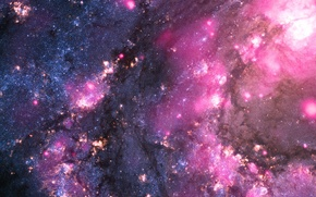 Картинка звезды, свечение, галактика