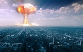 Картинка взрыв, город, бомба