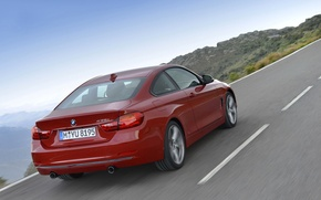 Картинка дорога, пейзаж, купе, BMW, 435i, четвертая серия