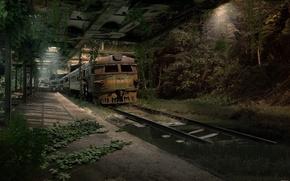 Картинка дорога, метро, апокалипсис, поезд