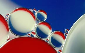 Обои цвет, объем, масло, вода, пепси, пузырьки, воздух