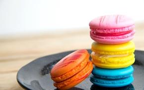 Картинка colorful, печенье, десерт, sweet, dessert, cookies, macaron, макарун, almond