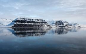 Картинка вода, горы, отражение
