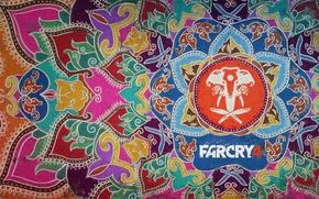 Картинка оружие, узоры, краски, слон, голова, Far Cry 4
