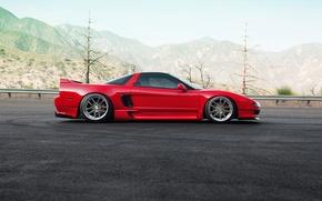 Картинка car, red, honda, nsx, 1013mm
