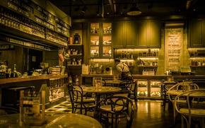 Картинка стол, стулья, кафе, ресторан, Дубай, ОАЭ, район Пальма Джумейра