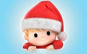 Картинка новый год, рождество, малыш, christmas, санта, baby, santa claus, kid, santa