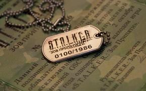 Картинка Сталкер, жетон, Stalker, call of pripyat