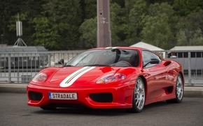 Картинка Ferrari, red, 360, stradale