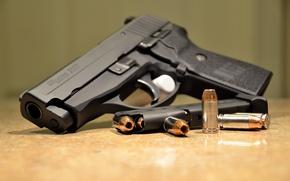 Картинка пистолет, патроны, обойма, полуавтоматический, SIG-Sauer, P239