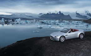 Обои айсберг, Vantage, родстер, Aston Martin