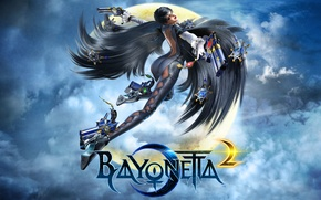 Картинка девушка, wallpaper, art, Platinum Games, bayonetta 2