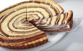 Обои торт, сладкое, кусок