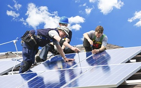 Картинка professional, installers, solar panels