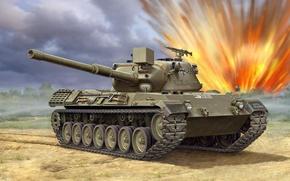 Картинка Леопард, рисунок, арт, Leopard, Бундесвер, основной боевой танк ФРГ