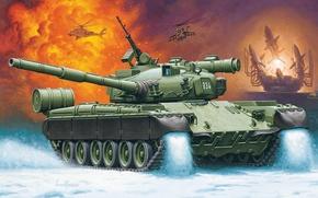 Картинка рисунок, Россия, Enzo Maio, основной боевой танк, ОБТ, Т-80