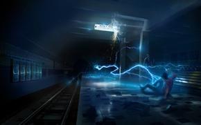 Картинка метро, охотник, The-Darkest-Hour, Пришелец-ищейка, Фантом, Атака в метро