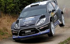 Картинка Ford, Прыжок, WRC, Rally, Fiesta, Ott Tanak