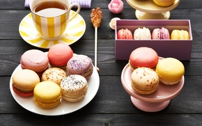 Обои dessert, десерт, печенье, almond, macaron, макарун, sweet, colorful, cookies