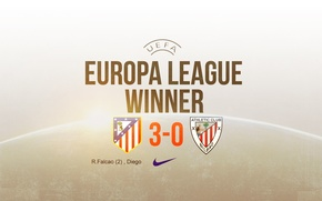 Картинка wallpaper, Nike, football, Spain, winner, Atletico Madrid, Europa League