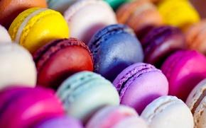 Обои миндальное печенье, красочные, food, colorful, питание, macaroon, печенье