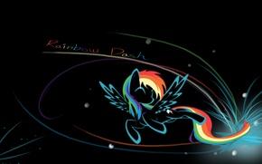 Картинка фон, надпись, черный, rainbow, my little pony, rainbow dash, mlp, dash, name