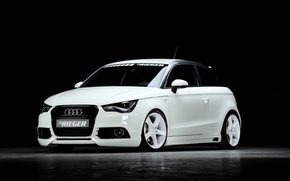 Картинка Audi, ауди, тюнинг, белая, 2013, Rieger