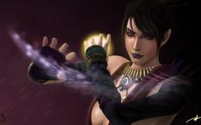 Картинка девушка, магия, Morrigan, Dragon Age