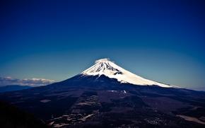 Картинка япония, остров, гора, вулкан, Фудзи, Хонсю, Фудзияма, Фудзисан