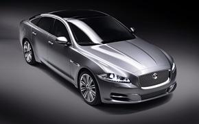 Обои серебро, Jaguar, модель XJ