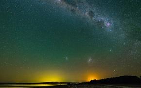 Картинка космос, звезды, панорама, млечный путь