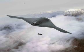 Картинка ВВС США, Американский БПЛА, Летающее Крыло, Boeing X-45
