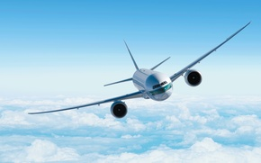 Картинка небо, авиация, самолет, фон, обои, полёт, sky, flight, boeing