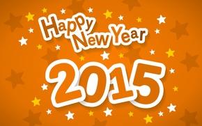 Картинка звезды, фон, Christmas, New Year, Happy, 2015