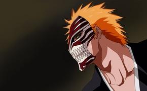 Картинка Аниме, Bleach, блич, Kurosaki Ichigo, маска пустого.