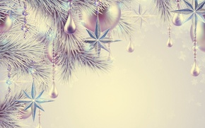 Картинка украшения, праздник, шары, звезда, рождество, star, Happy New Year, Christmas, balls, beautiful, beauty, Merry Christmas, …